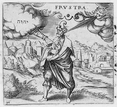 "Figure 20 - Pictura from the emblem ""FRVSTRA"" by Georgette de Montenay and Anna Roemer Visscher. From the book Cent emblemes chrestiens [A Hundred Christian Emblems] published in Heidelberg, Germany in 1602."